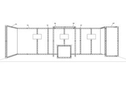 Kopfstand aus mobilen Messestand Traversen X-10 von X-Module mieten