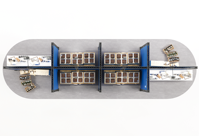 X-Module Messestand zum Selbstaufbau