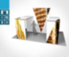 Mobiler Messestand 6 x 2 Meter proFAIRssional Messesystem