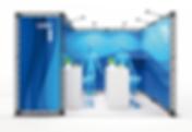 X-Module Messesysteme für den mobilen Messestand, Messetraverse, Truss System, Messestand mit Textildruck, Messewand mit Textilgrafik, X-10 X-15 X-20 Messestand Systeme Indoor & Outdoor
