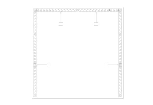 X-Module Mietmessestand als Reihenstand Grundriss