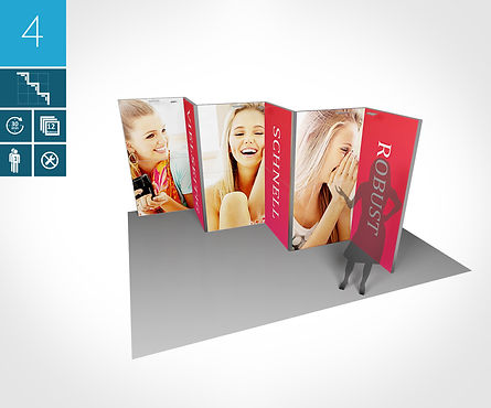 Messestand 3Mobile Messewand proFAIRssional Messestand System