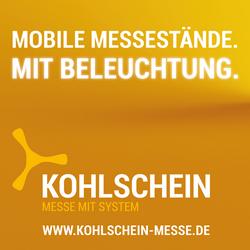 Textilgrafik für mobile Messestände KOHLSCHEIN-Messesysteme