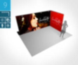 Mobiler Messestand 4 x 2 Meter proFAIRssional Messestand System