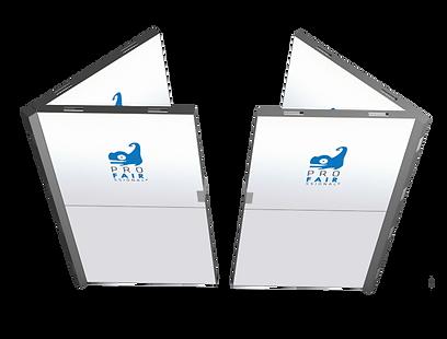 Messestandtüre für proFAIRssional Rahmen Messesystem.