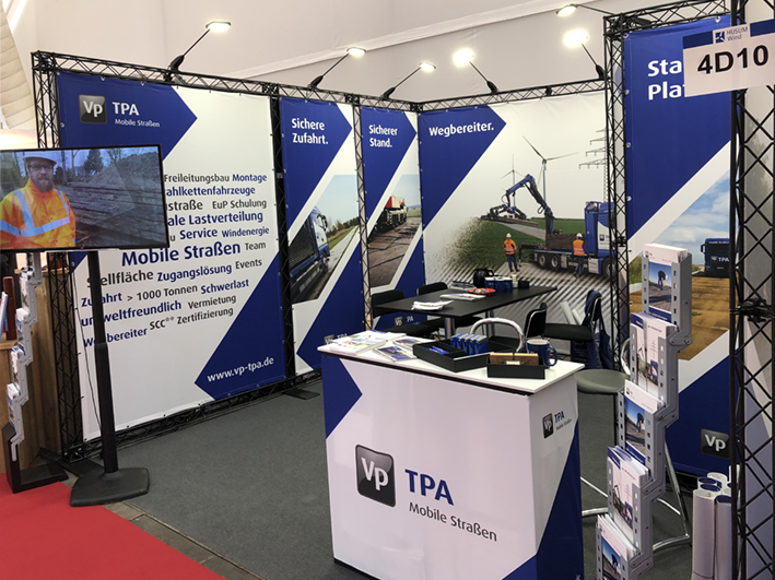 Vp GmbH Messestand mit X-10 Messetravers