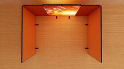 Kluban LED-Messestand Reihenstand mit Stoffdruck