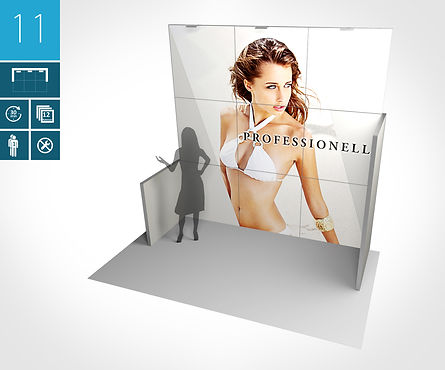 Mobiler Messestand 3 x 2 Meter proFAIRssional Messestand System