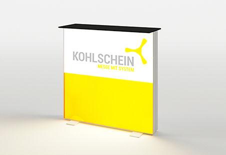 KOHLSCHEIN | MESSESTAND MIT SYSTEM - PIXLIP GO Leucht Counter, PIXLIP GO Leucht Theke, Messetheke, Messecounter, LED Counter, Pixlip Go Preisliste und Aufbautraining,