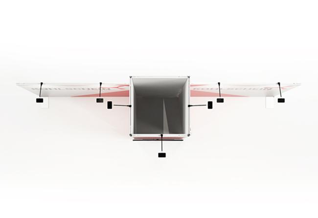 K-Profil 6 x 3 m Kopfstand