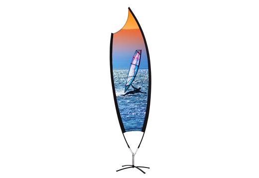Kohlschein-Beachflag-Moon-Motiv-Surfen