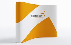 Mobile Messewand gebogen by KOHLSCHEIN   Messe mit System