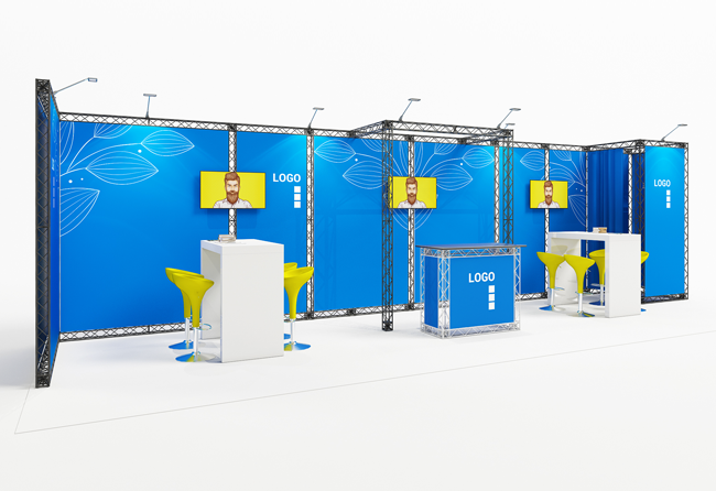 Mobiler Messestand mit X10 Traversen