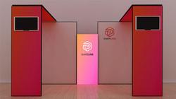 Kluban Messesystem-by-Kohlschein-Messe Kopfstand mit LED-Leuchtwand