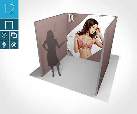Mobiler Messestand 2 x 2 Meter proFAIRssional Messestand System