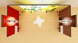 Kluban LED-Messestand-by-Luban Reihenstand mit Präsentationsablagen