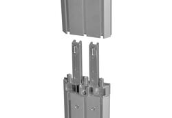Steckverbindung der modularen LED Leuchtwand für den mobilen Messeeinsatz