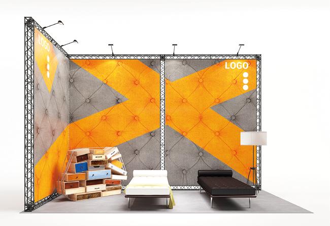 X-15 X-Module Eckstand 6 x 3 m für Haus- oder Gründermesse mieten