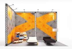 X-15 X-Module-Eckstand Textilgrafik