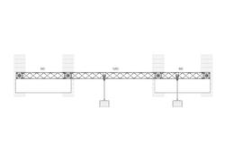 Grundriss mobile messewand aus leichten messebau traversen