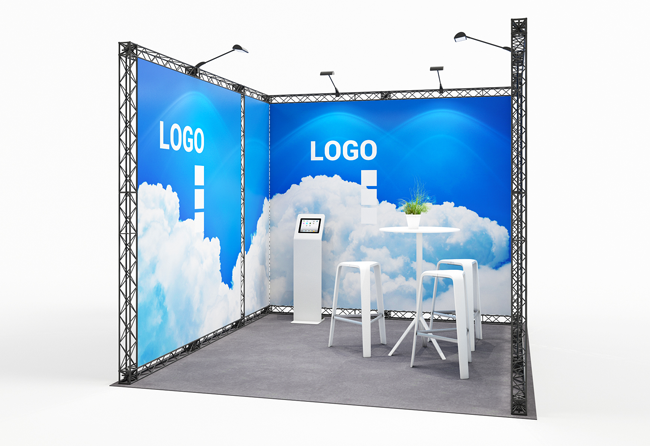 Flexibler, mobiler Messestand