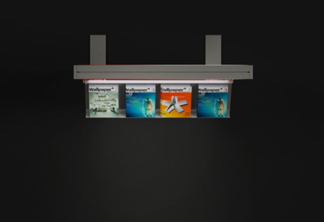 1 x 2,5 m Leuchtwand mit Broschüren