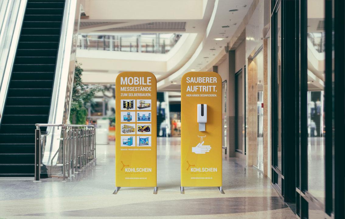 KOHLSCHEIN-Mobiler-Desinfektionsspender.