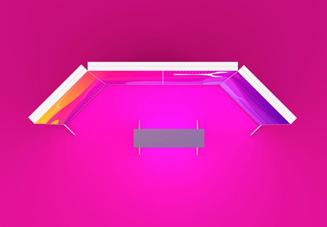 Mobiler-LED-Messestand-mit-Kunststoffrah