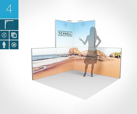 Mobiler Eckstand 2 x 2 Meter 6er Rahmenset proFAIRssional