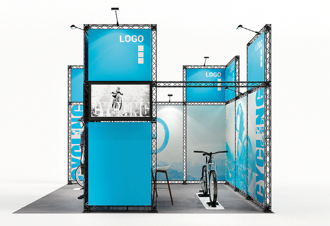 X-Module-flexibler Messestand