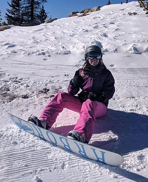 Emilie Pomerleau, founder of Everyday Adventures LLC enjoys a sunny day of snowboarding at Monarch Mountain. She's available for beginner yoga, mountain bike, trail running or snowboard lessons. Email emilie@everydayadenturesllc.com or rates and availability.