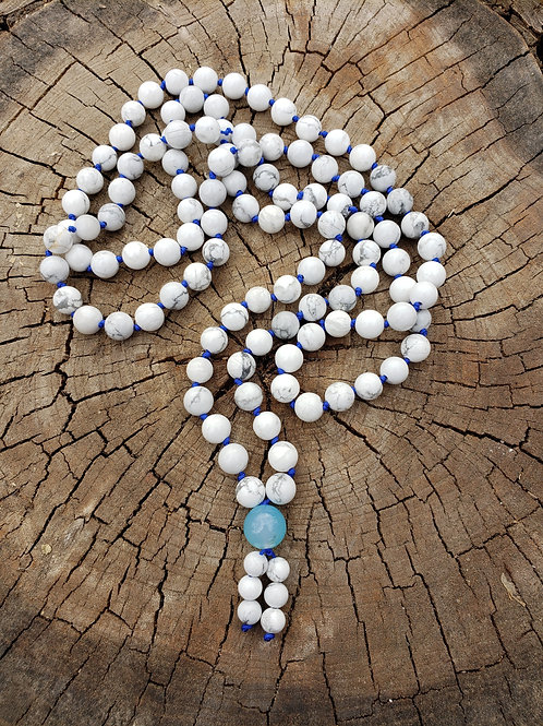 Howlite Meditation Beads - Mala Necklace with 108 Beads