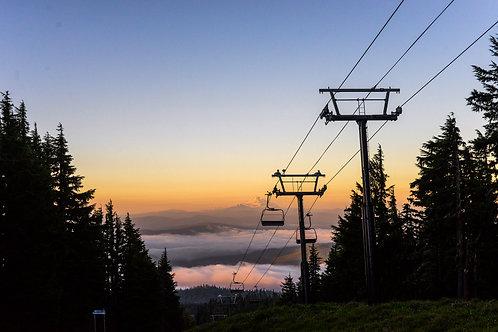 Lifts at Sunrise, Mt. Hood