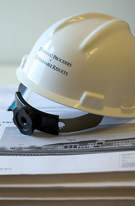 """Hard hat with """"dynamic Process and sustainable Results"""""""