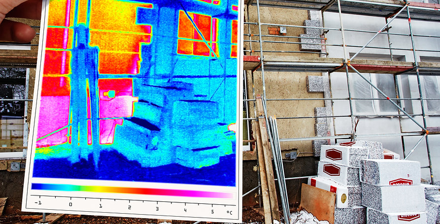Heat mapping of building envelope air infiltration