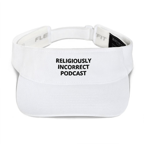 Religiously Incorrect Podcast Visor White