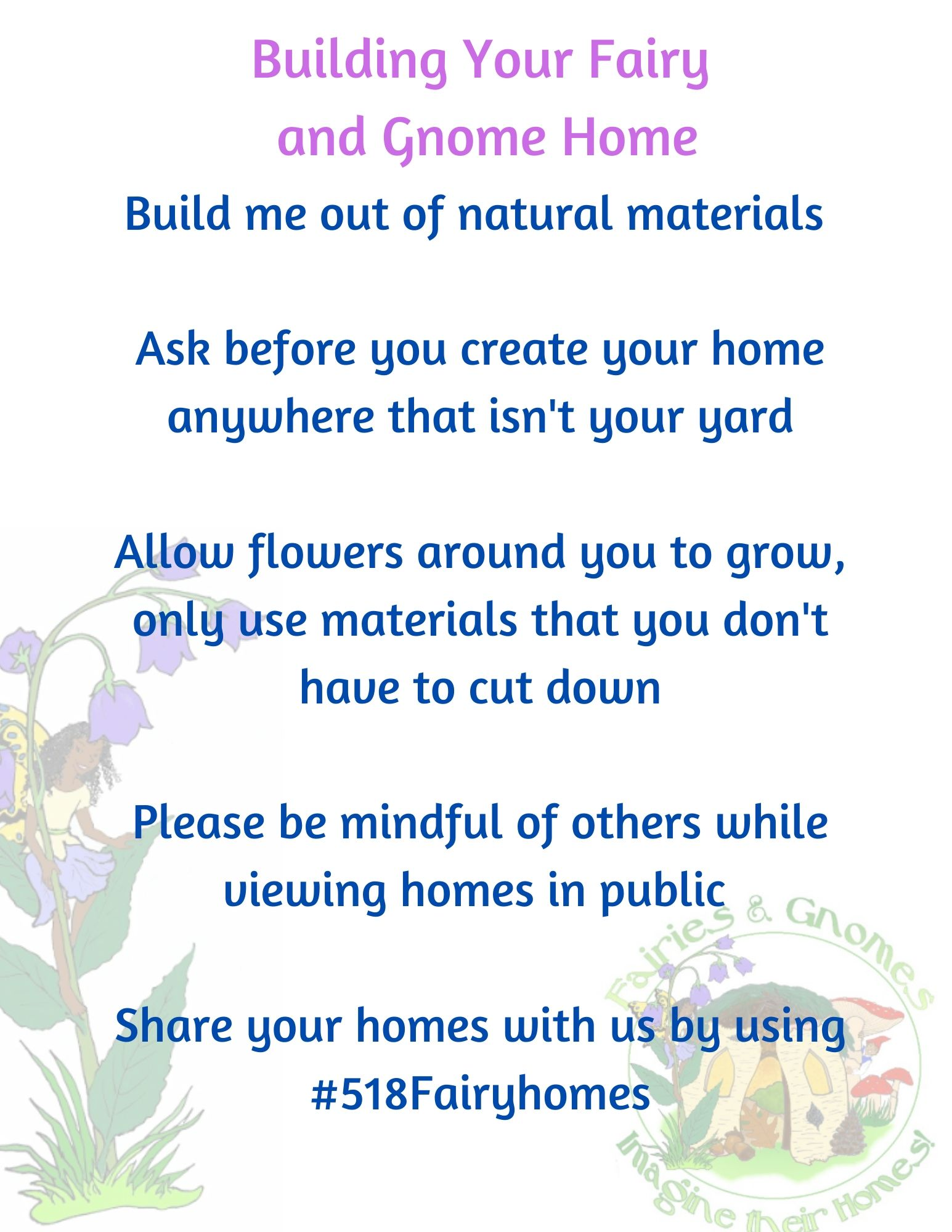 Fairy & Gnome Home Building Rules