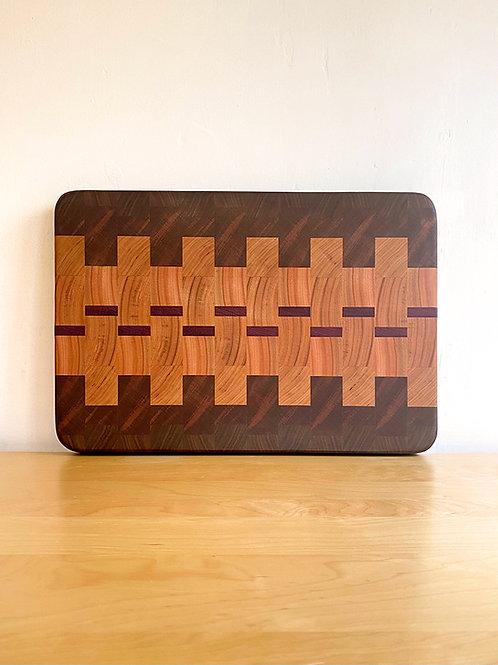 8/4 End Grain Cutting Board - Monarch Pattern