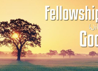 A Time to Pursue Deeper Fellowship with God
