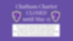 Chatham Charter CLOSED through May 15 -