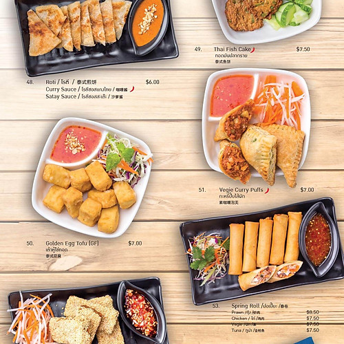 Yours Thais (food menu)