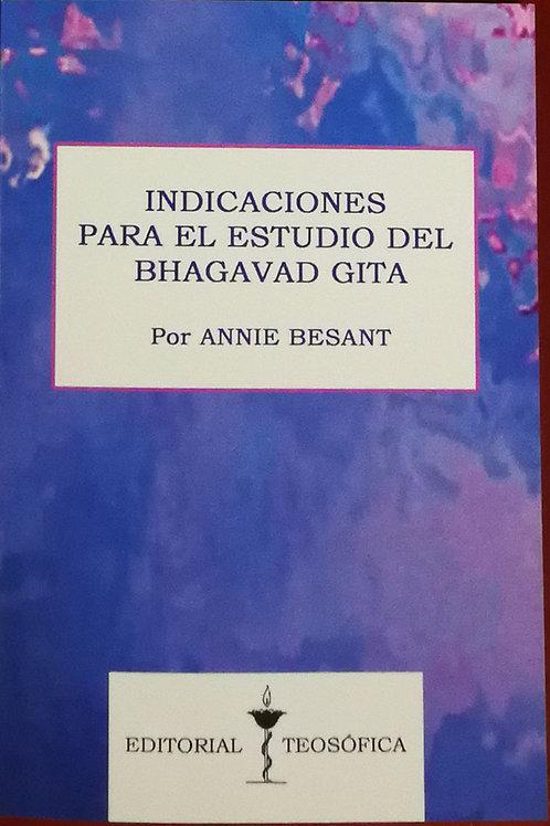 """Annie Besant """"Indicaciones para el estudio del Bhagavad Gita"""""""