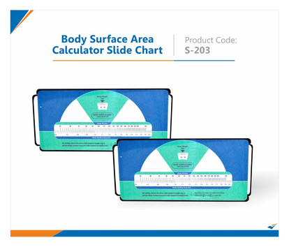 Body Surface Area Slide Chart