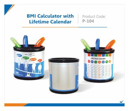 BMI Calculator withLifetime Calendar