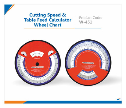 Cutting speed & table feed Wheel Chart