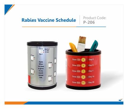 Rabies Vaccine Schedule Pen Stand