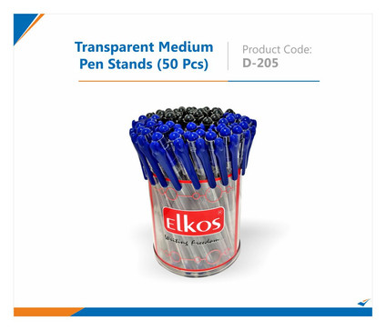 Transparent 50 pc Pen Stand