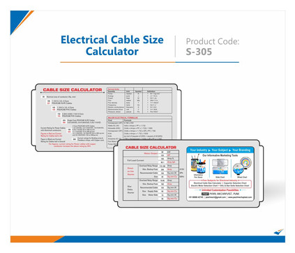 Electrical Cable Size Selection Slide Chart