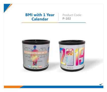 BMI with 1 Year Calendar