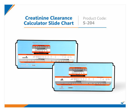 Creatinine Clearance Calculator Slide Chart